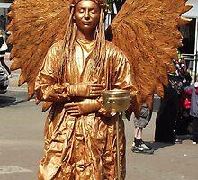 Golden Angel Statue - Skegness by Stephen Willmer
