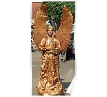 Golden Angel Statue - Skegness Poster