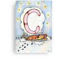 letter C (for the Russian alphabet) Canvas Print