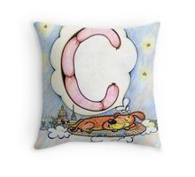 letter C (for the Russian alphabet) Throw Pillow