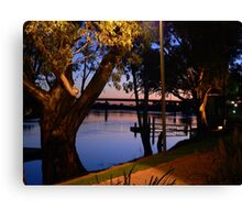 River Murray scene at Sunset, early Evening Canvas Print