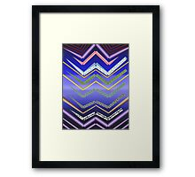 Jagged Lines Framed Print