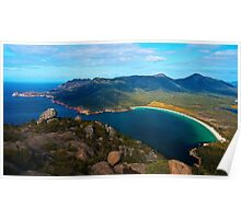 Wine Glass Bay, from Mt Amos Lookout Poster