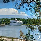 Casino Boat Approaching by TJ Baccari Photography