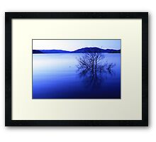 blowering dam in blue Framed Print