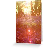 Sunny Bluebells Greeting Card