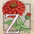 Z is for Zinnia card by Stephanie Smith