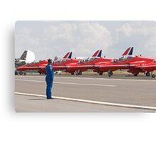 Red arrows preparing to display Canvas Print