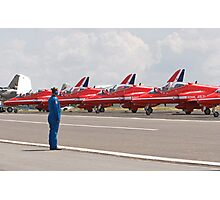 Red arrows preparing to display Photographic Print