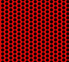 Grid Punch Holes Design Red and Black by Sookiesooker