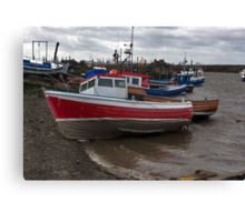 The Boats  -  Paddy's Hole. Canvas Print