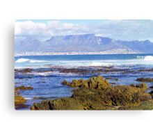 View of Capetown, South Africa from Robben Island Canvas Print