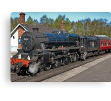 "No 45428  ""Eric Treacy"" Steam Train  - Grosmont. Canvas Print"