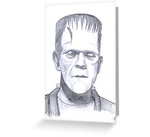 Karloffs Monster Greeting Card