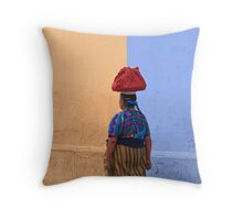 Going to the Market Throw Pillow