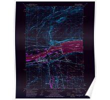 USGS Topo Map Washington Umatilla 244406 1962 24000 Inverted Poster