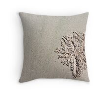 """Sand Ball Sculptures"" - Fraser Island Throw Pillow"