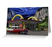 """Cruising McDonalds"" - 1955 Chevy Greeting Card"