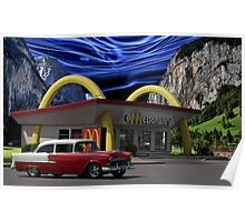 """Cruising McDonalds"" - 1955 Chevy Poster"