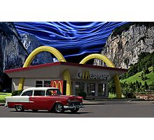 """Cruising McDonalds"" - 1955 Chevy Photographic Print"