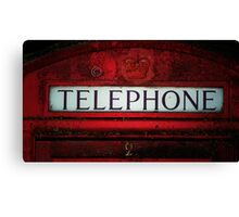 Telephone. Canvas Print