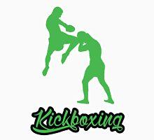 Kickboxing Man Jumping Knee Green  T-Shirt