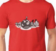 Zombie Birds (black and white) Unisex T-Shirt