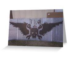 Motorcycle shop ceiling mural Greeting Card
