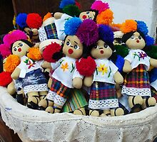 Basket of dolls by Shirley  Poll