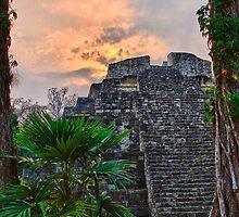 Yaxha Mayan Ruins by Tomas Abreu