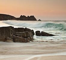 Porthcurno Sunrise by Nick Tsiatinis