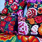 Embroidered pillows by Shirley  Poll