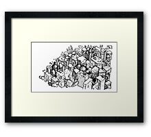 Cheese city Framed Print