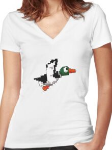 Duck Hunt Women's Fitted V-Neck T-Shirt
