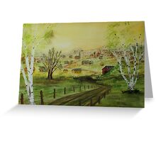 Country Road to Home Greeting Card