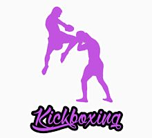 Kickboxing Man Jumping Knee Purple Unisex T-Shirt
