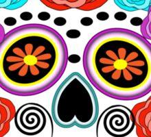 Fun Bright Trendy Sugar Skull Sticker