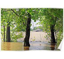 Flood waters in Arkansas Poster