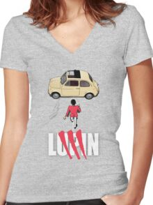 The Gentleman Driver Women's Fitted V-Neck T-Shirt