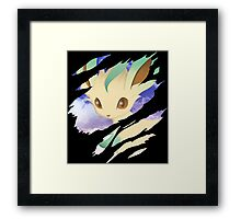 pokemon eevee leafeon anime manga shirt Framed Print