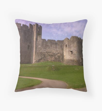 Chepstow Castle,Wales,UK Throw Pillow