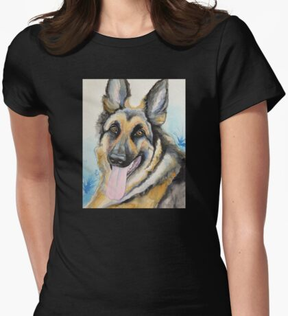 Max the GSD Womens Fitted T-Shirt