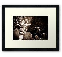 When the patient, shining with pain... Framed Print