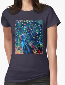 Psychedelic Peacock Womens Fitted T-Shirt
