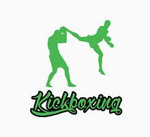 Kickboxing Man Jumping Back Kick Green  T-Shirt
