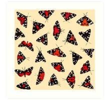Scarlet Tigers - Pale Art Print