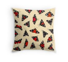 Scarlet Tigers - Pale Throw Pillow