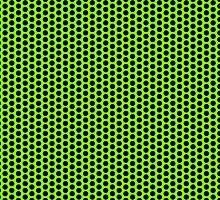 Grid Punch Holes Design Lime and Black by Sookiesooker