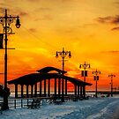 Boardwalk Winter Sunset by Chris Lord