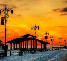 Boardwalk Winter Sunset by Chris Lord